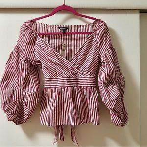Striped statement shirt